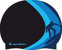 Шапочка для плавания Aqua Sphere Clarkey 20912N (черный) -