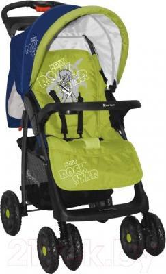 Детская прогулочная коляска Lorelli Foxy (Blue Green Rock Star) - общий вид