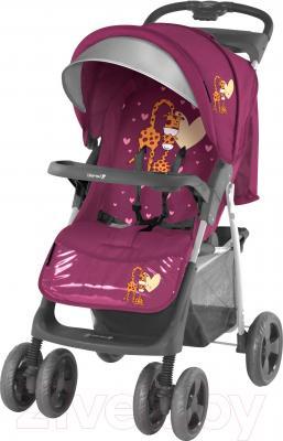 Детская прогулочная коляска Lorelli Foxy (Pink Giraffes) - общий вид