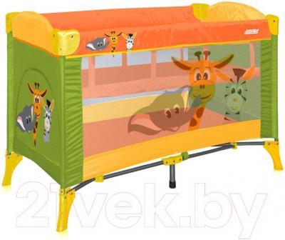Кровать-манеж Lorelli Arena 2 (Green Safari) - общий вид