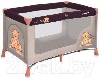 Кровать-манеж Lorelli Nanny 1 (Beige Bear) - общий вид