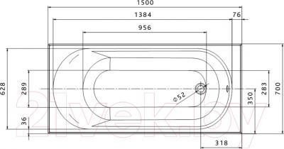 Ванна акриловая Kolo Opal 150x70 (с ножками)