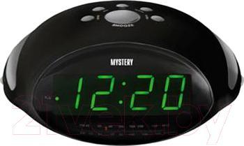 Радиочасы Mystery MCR-45 (черный с зеленым) - общий вид