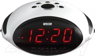 Радиочасы Mystery MCR-45 (белый с красным) - общий вид