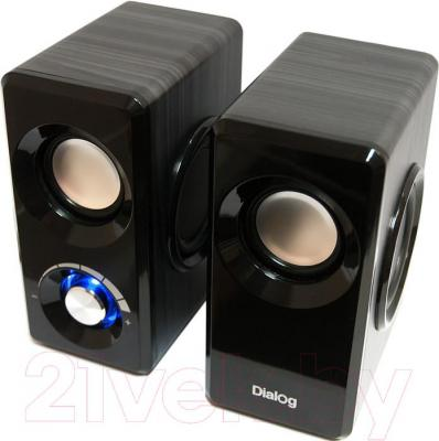 Мультимедиа акустика Dialog AST-25UP (черный) - общий вид