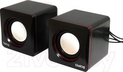 Мультимедиа акустика Dialog AC-04UP (черно-красный) - общий вид