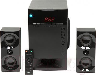 Мультимедиа акустика Dialog AP-230 (черный) - вид сбоку