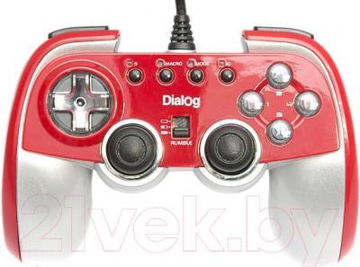 Геймпад Dialog GP-M22 (красный) - общий вид
