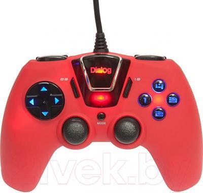 Геймпад Dialog GP-M24 (красный) - общий вид