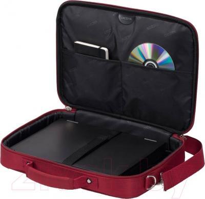 Сумка для ноутбука Dicota D30923 (красный) - в открытом виде