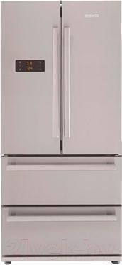 Холодильник с морозильником Beko GNE 60520 X - вид спереди