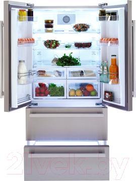 Холодильник с морозильником Beko GNE 60520 X - внутренний вид