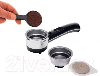 Кофеварка эспрессо DeLonghi ECO311.BK - использование молотого кофе и в чалдах