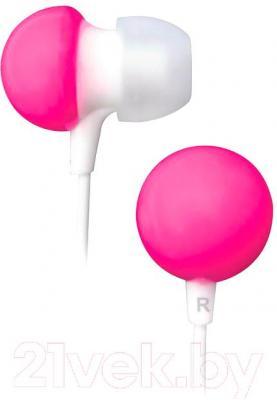 Наушники BBK EP-1140S (бело-розовый) - общий вид