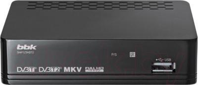 Тюнер цифрового телевидения BBK SMP123HDT2 (темно-серый) - общий вид