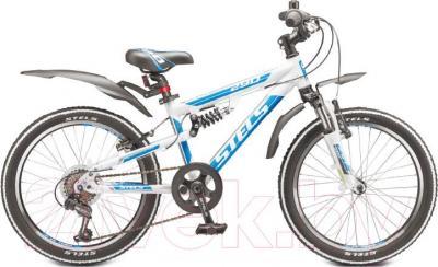 Детский велосипед Stels Pilot 290 (бело-синий) - общий вид