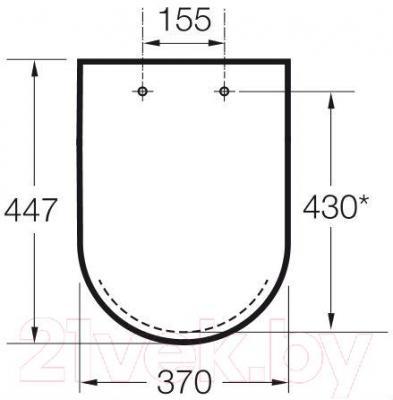 Сиденье для унитаза Roca Meridian Access A801230004 - габаритные размеры