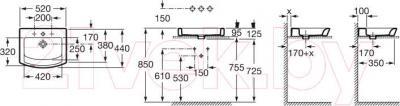 Умывальник Roca Hall 52x44 (A327882000)