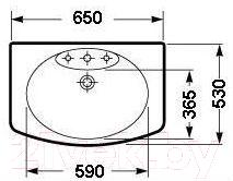 Умывальник настенный Roca Dama Senso 65x53 (A325511000)