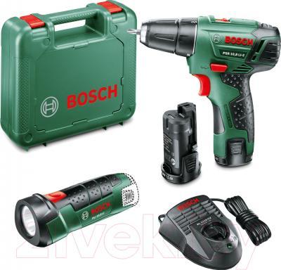 Аккумуляторная дрель-шуруповерт Bosch 10.8 LI-2 (0.603.972.924) - комплектация