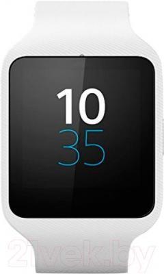 Интеллектуальные часы Sony SmartWatch 3 (белый) - вид спереди