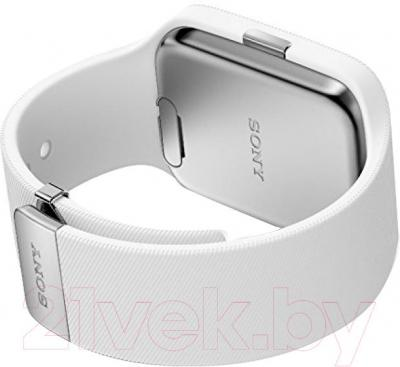 Интеллектуальные часы Sony SmartWatch 3 (белый) - вид сзади