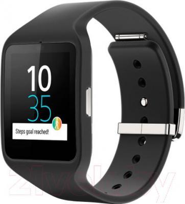 Интеллектуальные часы Sony SmartWatch 3 (черный) - общий вид