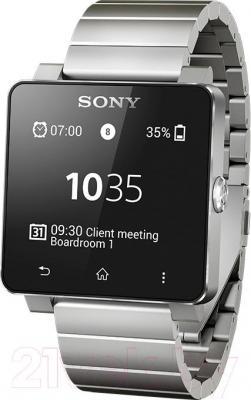 Интеллектуальные часы Sony SmartWatch 2  (серебристый) - общий вид