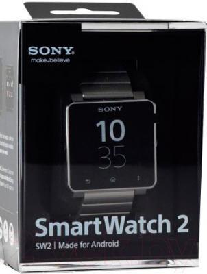 Интеллектуальные часы Sony SmartWatch 2  (серебристый) - в упаковке