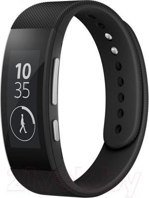 Умный браслет Sony SmartBand Talk SWR30 (черный) - общий вид