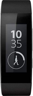 Умный браслет Sony SmartBand Talk SWR30 (черный) - вид спереди