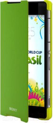 Чехол-книжка Sony SCR10G (зеленый с желтым каркасом) - общий вид