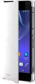 Чехол-книжка Sony SCR10W (белый) - вид спереди