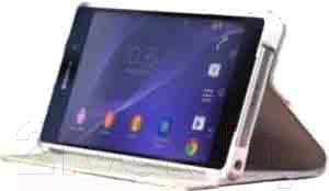 Чехол-книжка Sony SCR10W (белый) - подставка