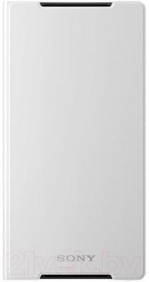 Чехол-книжка Sony SCR10W (белый) - фронтальный вид