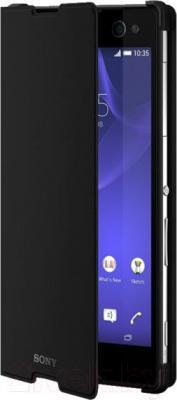 Чехол-книжка Sony SCR15B (черный, с магнитной вставкой) - общий вид