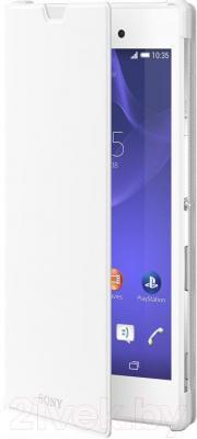 Чехол-книжка Sony SCR16W (белый, с магнитной вставкой) - общий вид