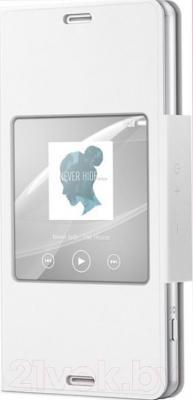 Чехол-книжка Sony SCR26 (белый, с окошком) - общий вид