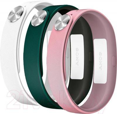 Комплект ремешков для фитнес-трекера Sony SWR110 Classic S (белый, розовый, зеленый)