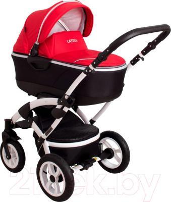 Детская универсальная коляска Coto baby Latina 2 в 1 (красный) - общий вид