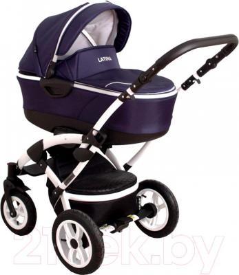 Детская универсальная коляска Coto baby Latina 2 в 1 (темно-синий) - общий вид