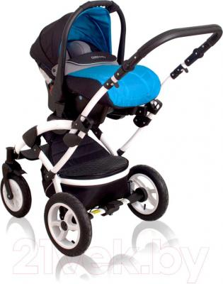 Детская универсальная коляска Coto baby Latina 2 в 1 (темно-синий) - чехол для ног