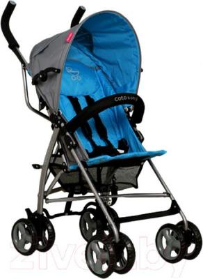 Детская прогулочная коляска Coto baby Rhythm (голубой) - общий вид