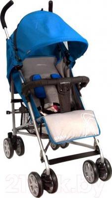 Детская прогулочная коляска Coto baby Soul Q (голубой) - общий вид