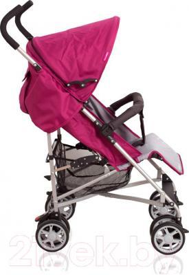 Детская прогулочная коляска Coto baby Soul Q (голубой) - вид сбоку