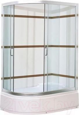 Душевой уголок Coliseum Satriya 120 R (матовое стекло) - вид в интерьере
