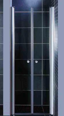 Душевая дверь Coliseum 7016 190x80 (матовое стекло) - вид в интерьере