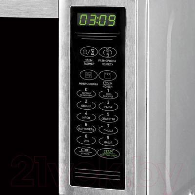 Микроволновая печь BBK 20MWG-734S/BX - элементы управления
