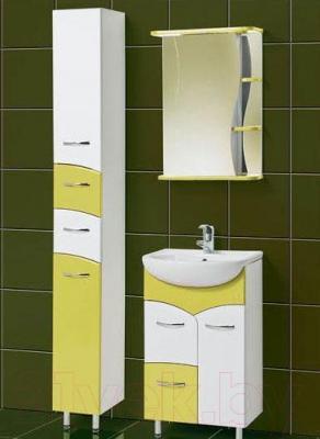 Шкаф с зеркалом для ванной Акваль Виктория 50 (ЕВ.04.50.01.L) - комплект в сборе