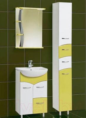 Шкаф с зеркалом для ванной Акваль Виктория 50 (ЕВ.04.50.01.R)